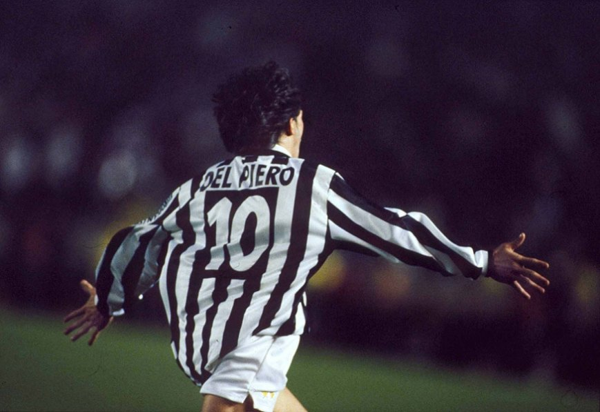 alessandro del piero juventus celebration