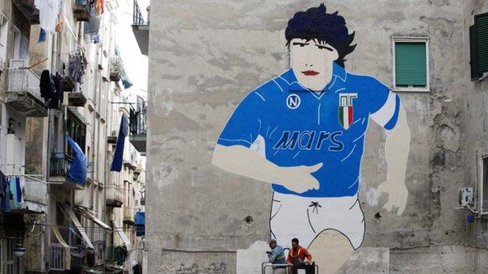 maradona mural naples