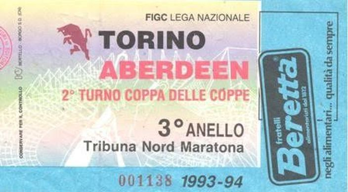 remembering torino vs. aberdeen: a classic cup winners' cup tie